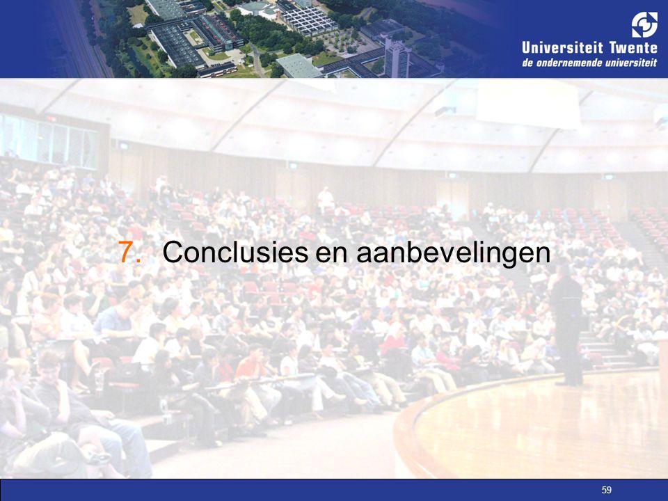 7. Conclusies en aanbevelingen
