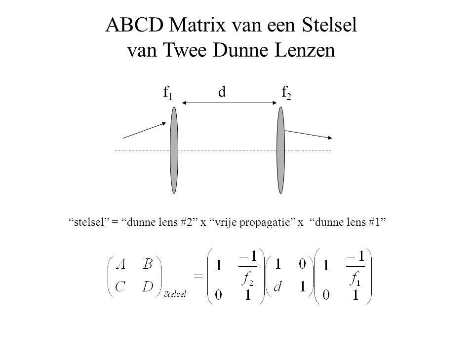 ABCD Matrix van een Stelsel van Twee Dunne Lenzen