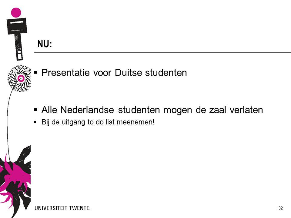 NU: Presentatie voor Duitse studenten