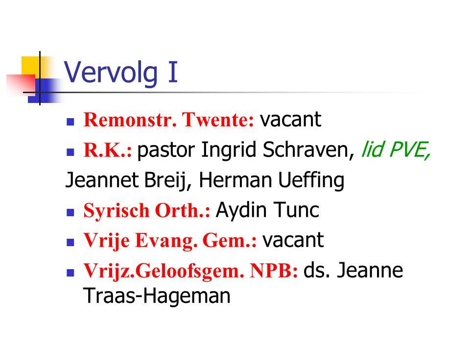 Vervolg I Remonstr. Twente: vacant