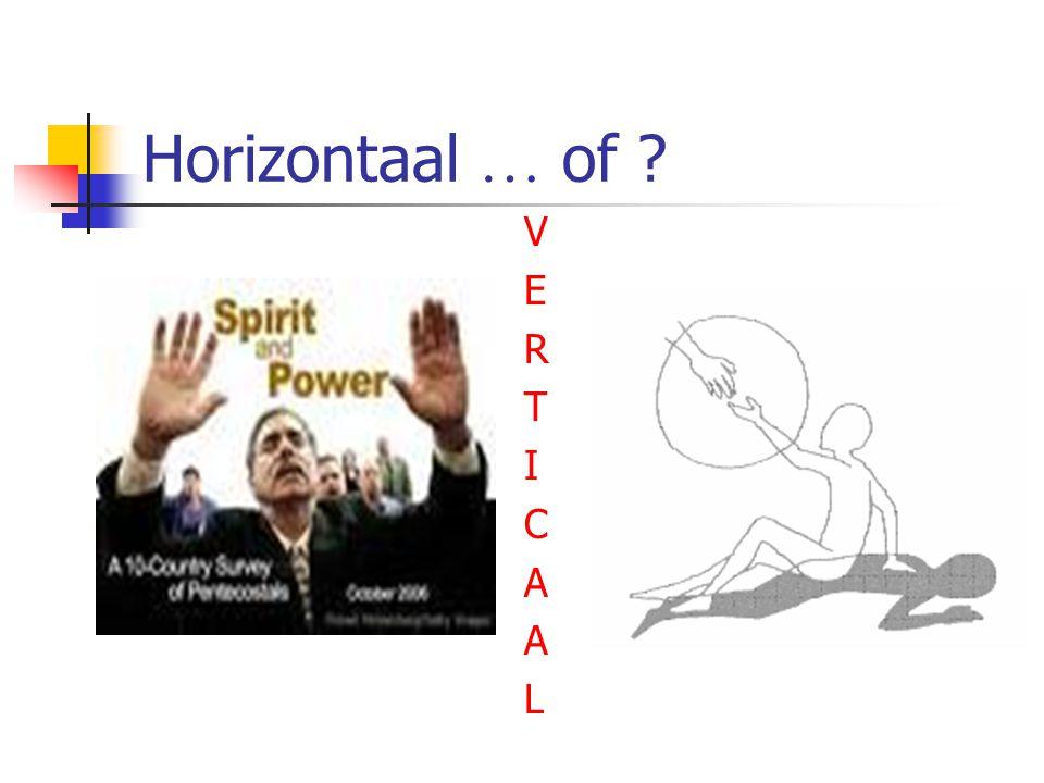 Horizontaal … of V E R T I C A L
