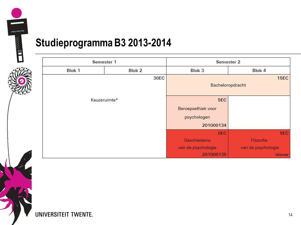 Studieprogramma B3 2013-2014 14