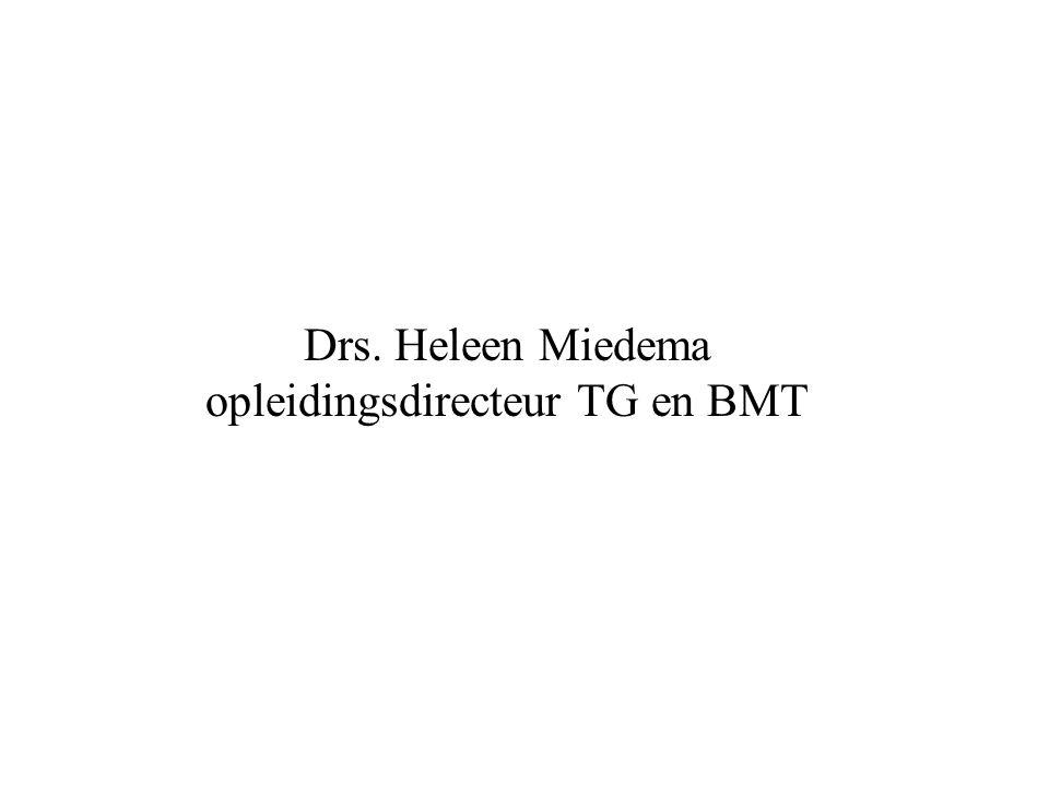 Drs. Heleen Miedema opleidingsdirecteur TG en BMT