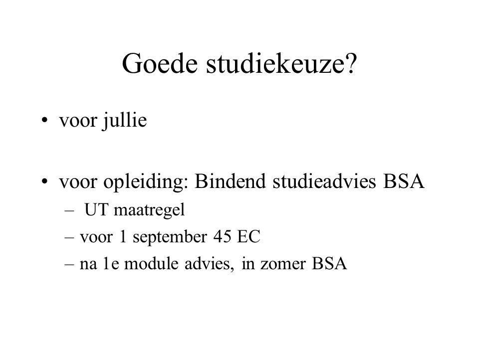 Goede studiekeuze voor jullie