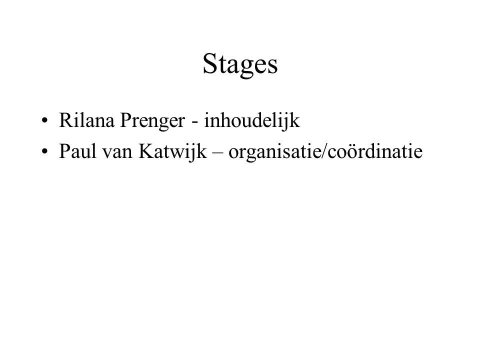Stages Rilana Prenger - inhoudelijk