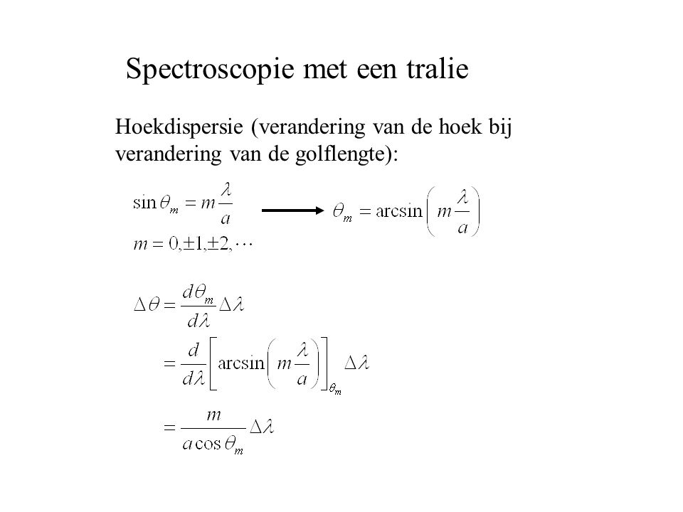 Spectroscopie met een tralie