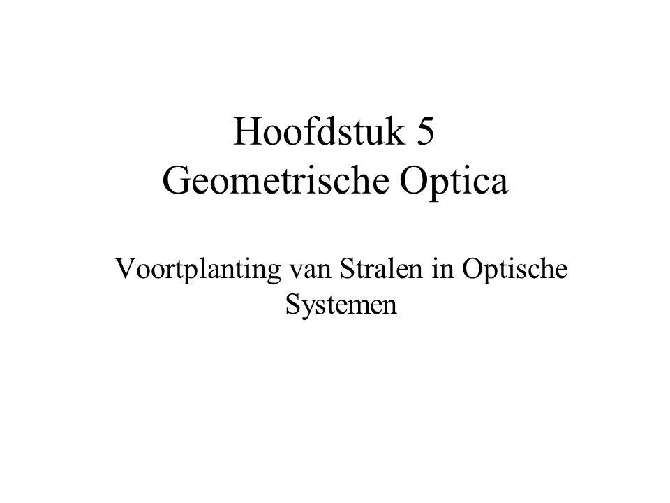 Hoofdstuk 5 Geometrische Optica