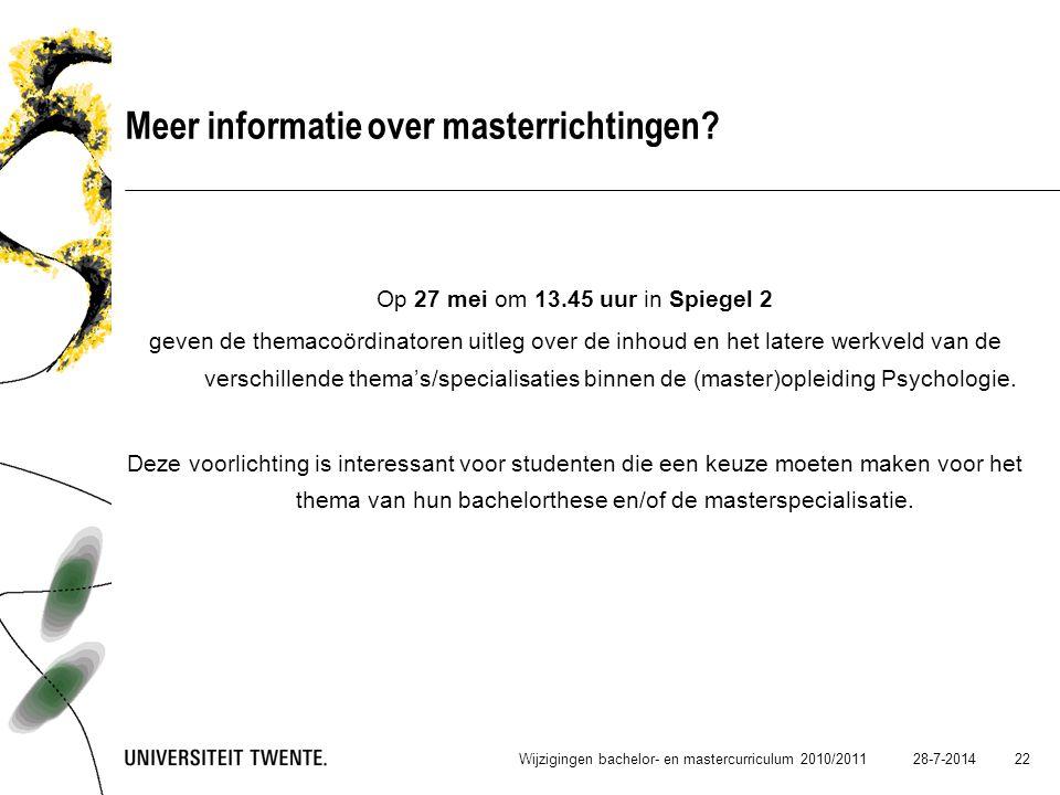 Meer informatie over masterrichtingen