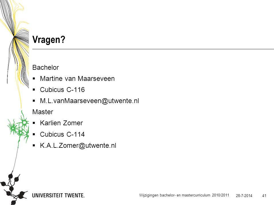 Vragen Bachelor Martine van Maarseveen Cubicus C-116