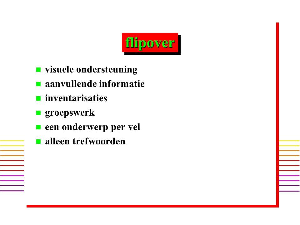 flipover visuele ondersteuning aanvullende informatie inventarisaties