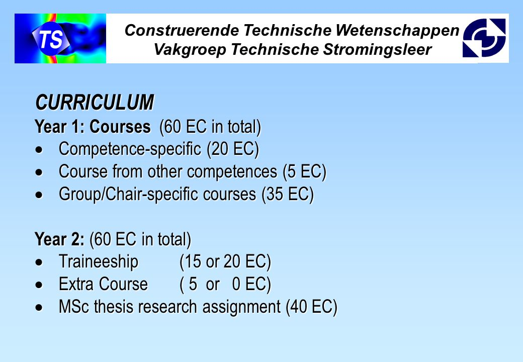 CURRICULUM Year 1: Courses (60 EC in total)