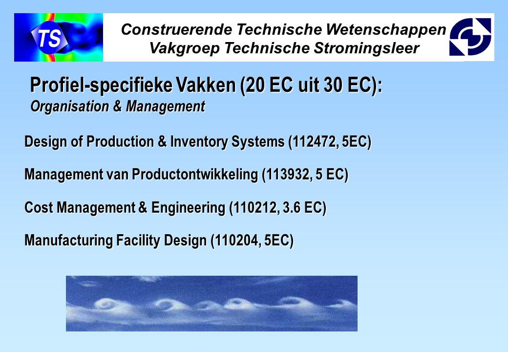 Profiel-specifieke Vakken (20 EC uit 30 EC):