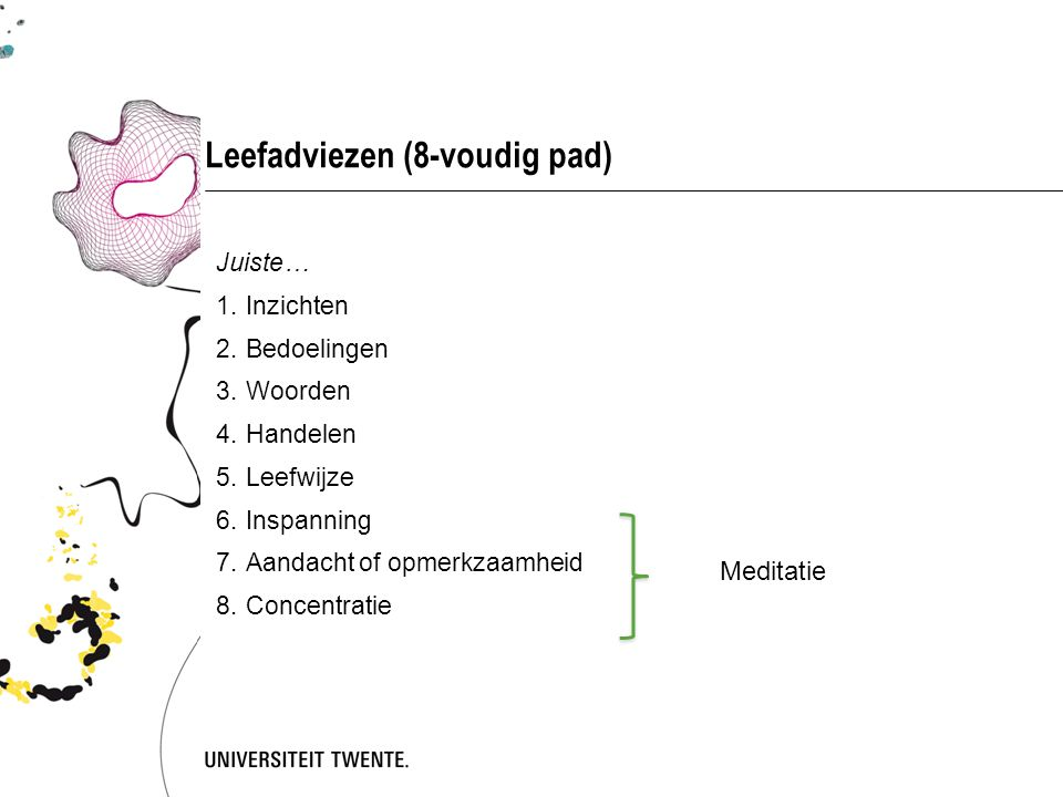 Leefadviezen (8-voudig pad)