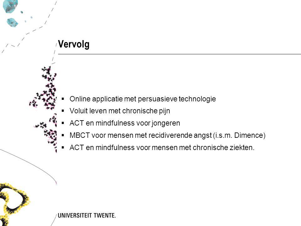 Vervolg Online applicatie met persuasieve technologie