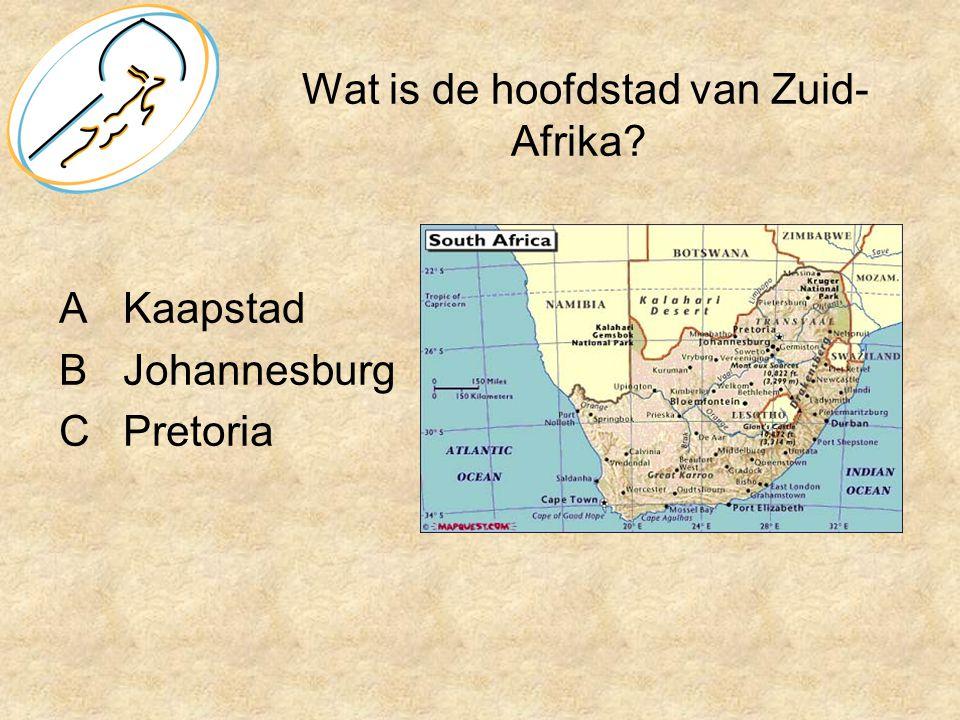 Wat is de hoofdstad van Zuid-Afrika