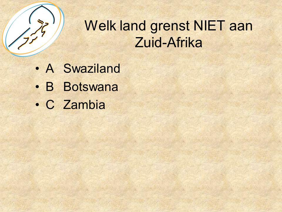 Welk land grenst NIET aan Zuid-Afrika