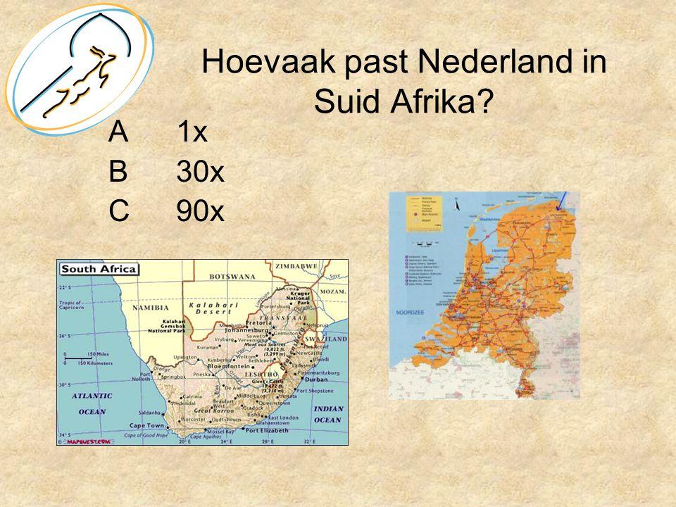 Hoevaak past Nederland in Suid Afrika