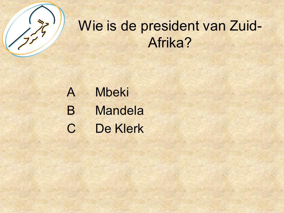 Wie is de president van Zuid-Afrika