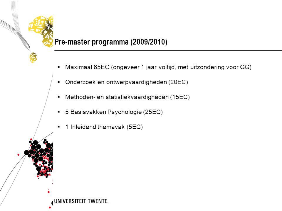 Pre-master programma (2009/2010)