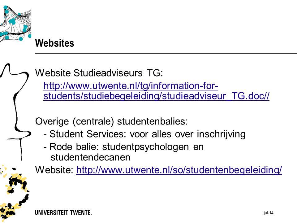 Websites Website Studieadviseurs TG: