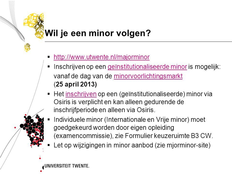 Wil je een minor volgen http://www.utwente.nl/majorminor
