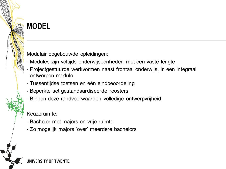 MODEL Modulair opgebouwde opleidingen:
