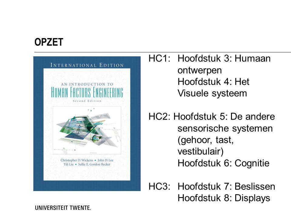 OPZET HC1: Hoofdstuk 3: Humaan ontwerpen