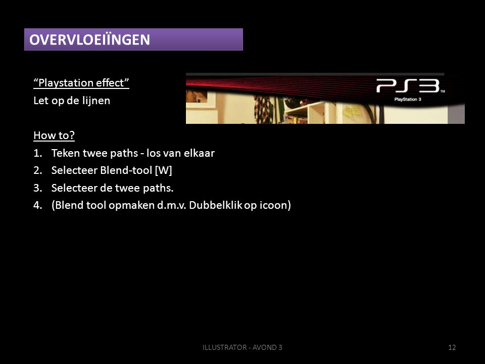 OVERVLOEIÏNGEN Playstation effect Let op de lijnen How to