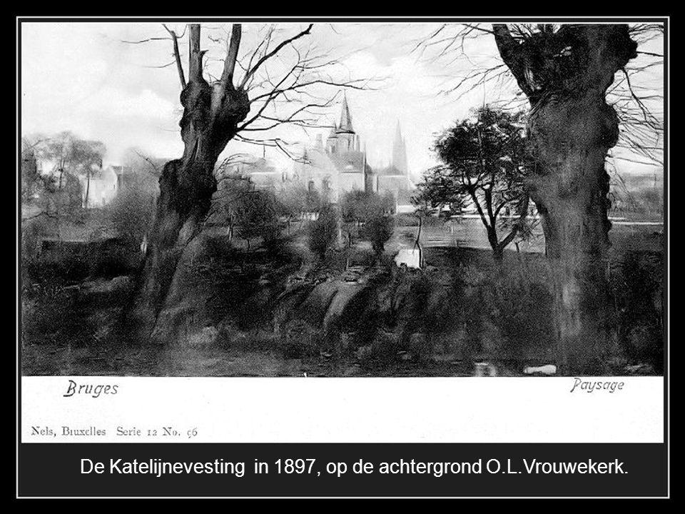 De Katelijnevesting in 1897, op de achtergrond O.L.Vrouwekerk.