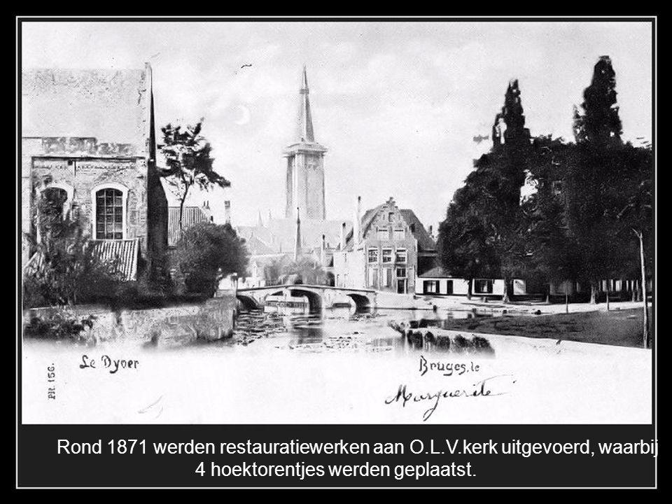 Rond 1871 werden restauratiewerken aan O.L.V.kerk uitgevoerd, waarbij
