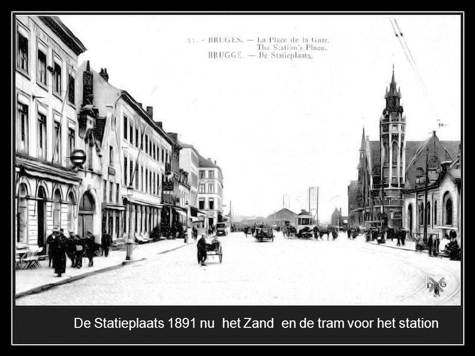 De Statieplaats 1891 nu het Zand en de tram voor het station
