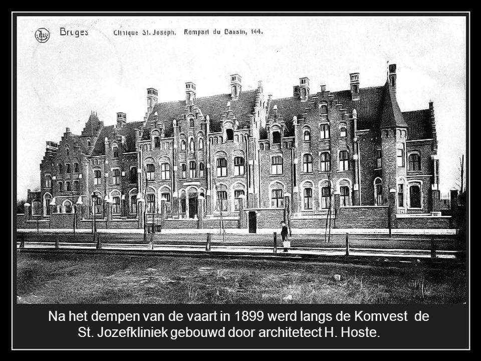 Na het dempen van de vaart in 1899 werd langs de Komvest de