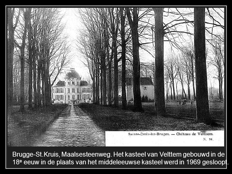 Brugge-St.Kruis, Maalsesteenweg. Het kasteel van Velttem gebouwd in de