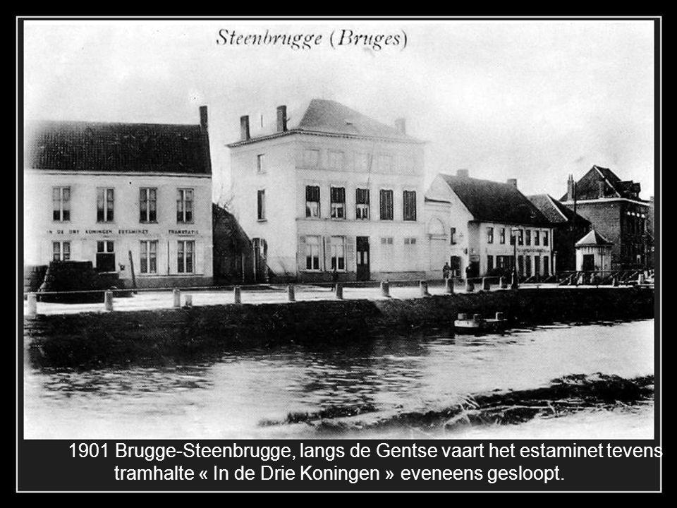 1901 Brugge-Steenbrugge, langs de Gentse vaart het estaminet tevens