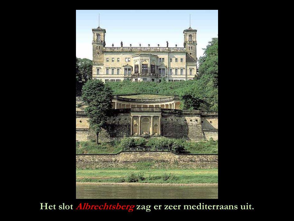 Het slot Albrechtsberg zag er zeer mediterraans uit.