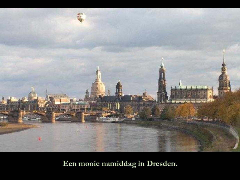 Een mooie namiddag in Dresden.