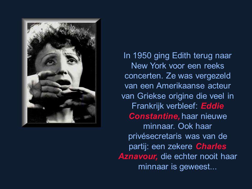 In 1950 ging Edith terug naar New York voor een reeks concerten