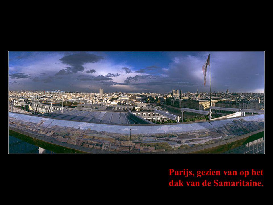 Parijs, gezien van op het dak van de Samaritaine.