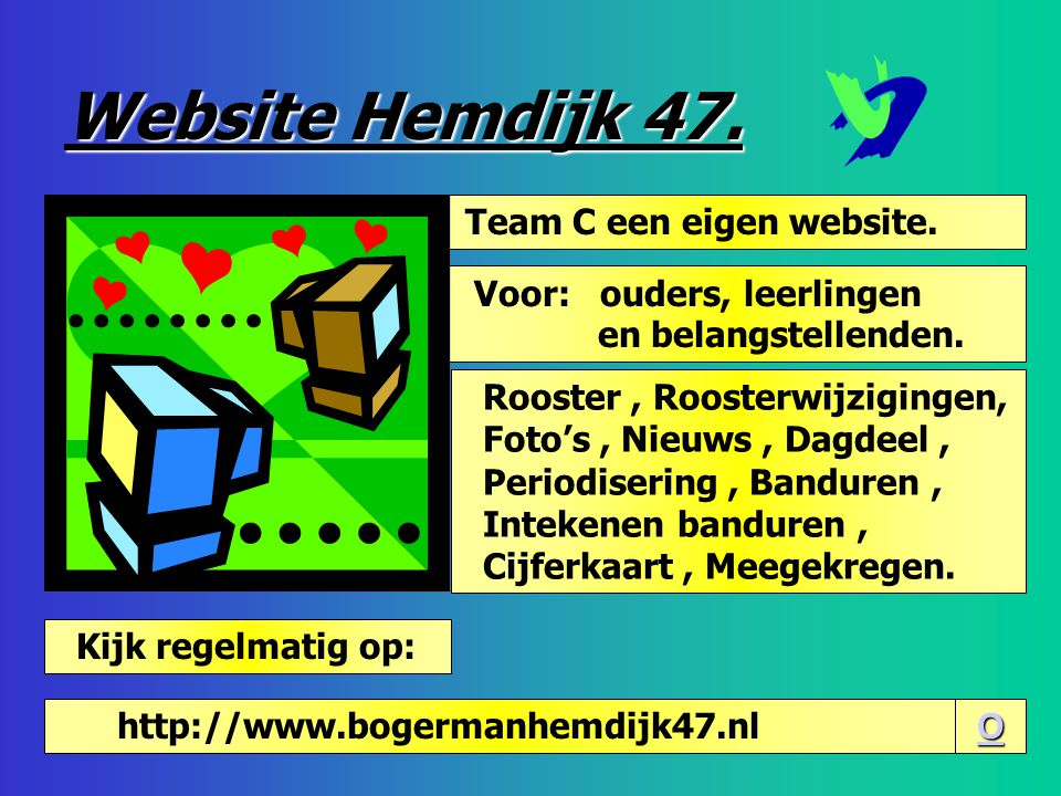 Website Hemdijk 47. Team C een eigen website.