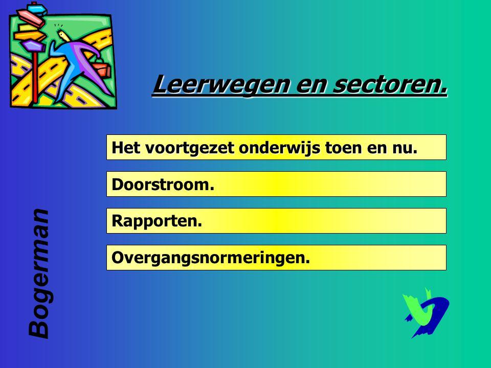Bogerman Leerwegen en sectoren. Het voortgezet onderwijs toen en nu.
