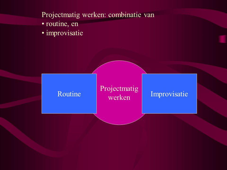 Projectmatig werken: combinatie van