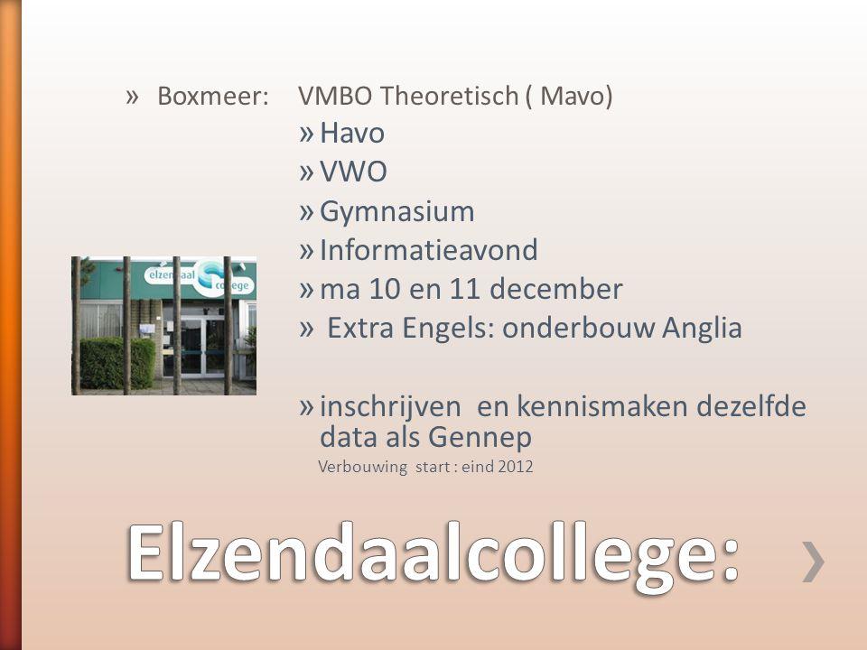 Elzendaalcollege: Havo VWO Gymnasium Informatieavond