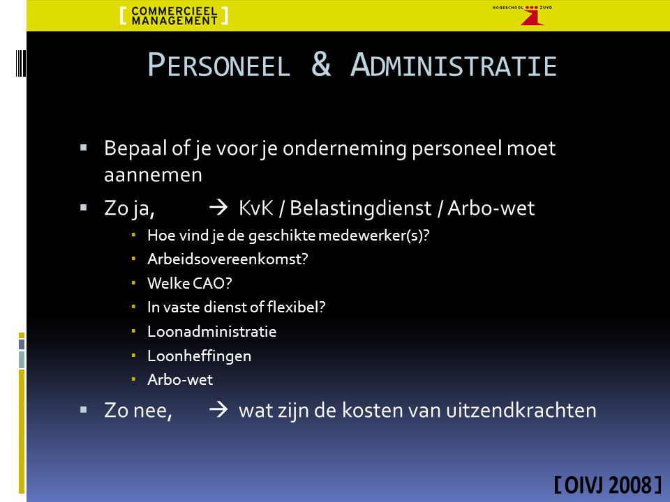Personeel & Administratie