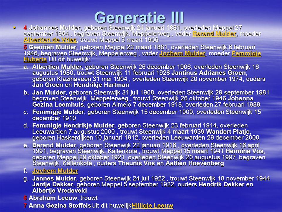 Generatie III