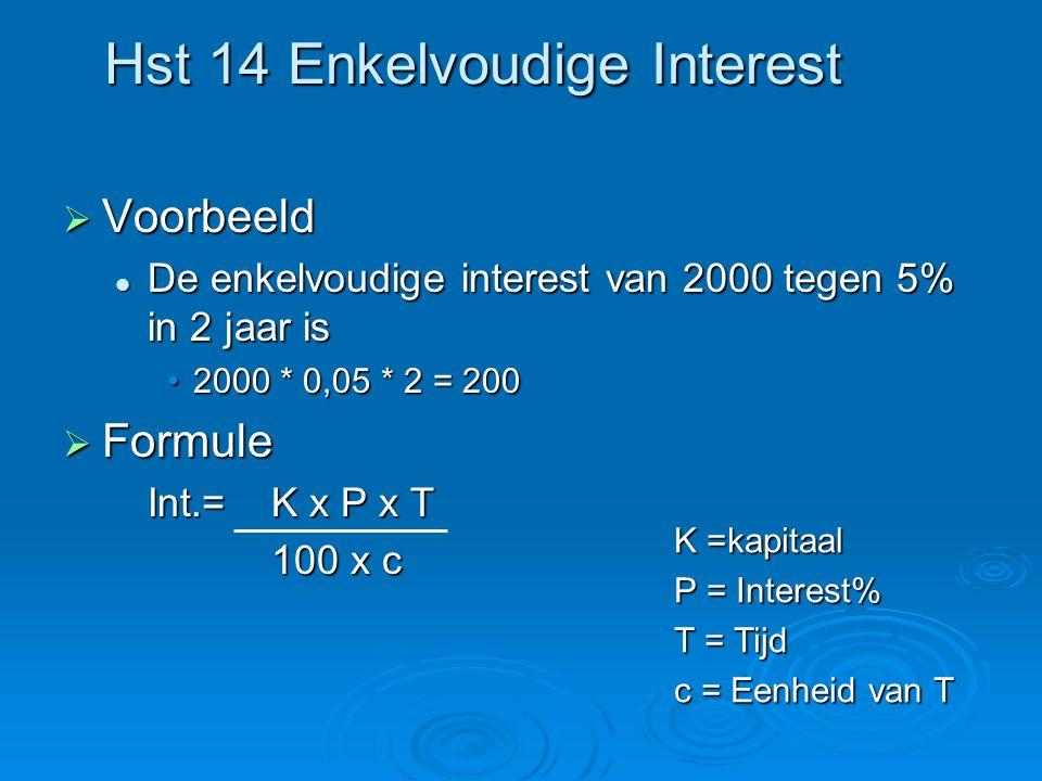 Hst 14 Enkelvoudige Interest