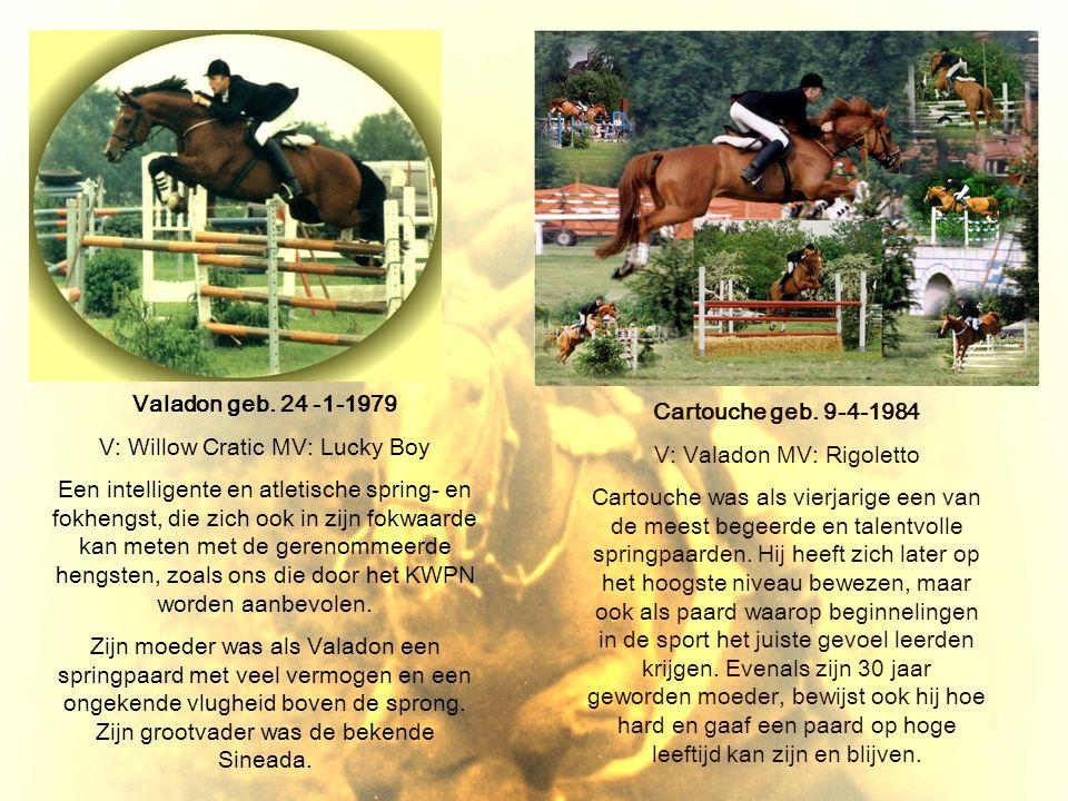 Valadon geb. 24 -1-1979 Cartouche geb. 9-4-1984