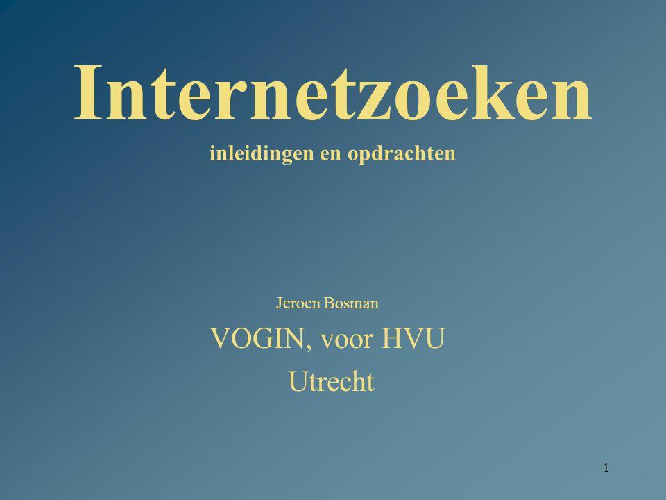 Internetzoeken inleidingen en opdrachten