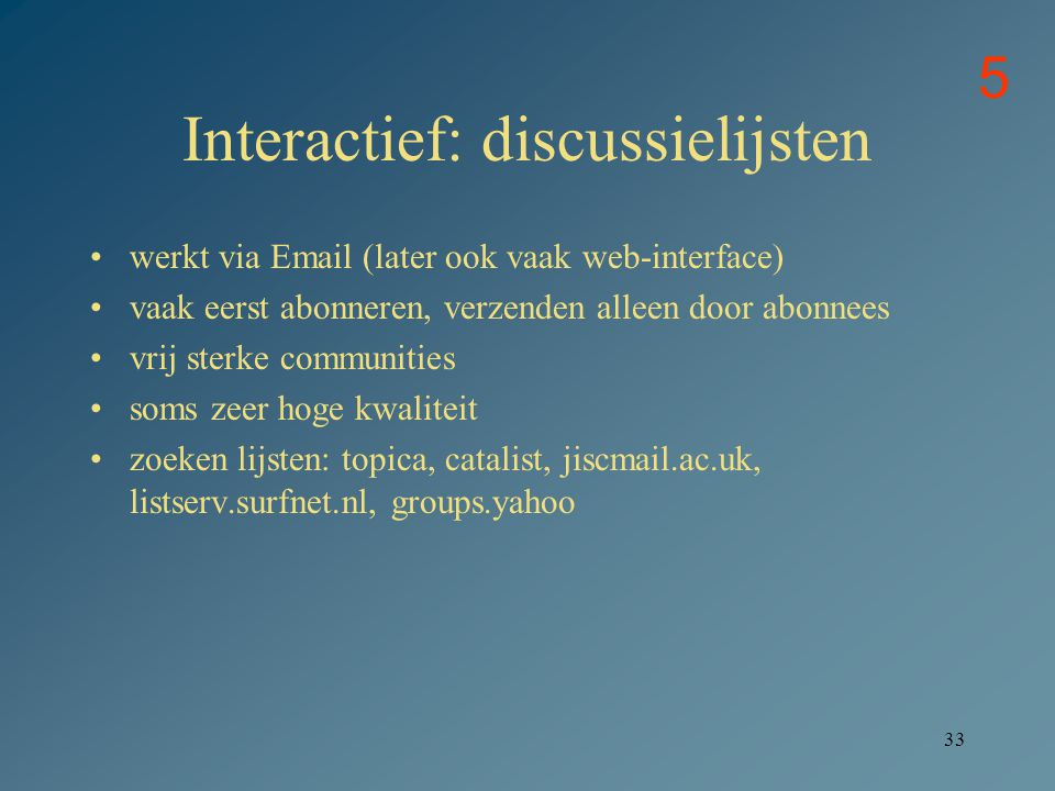 Interactief: discussielijsten