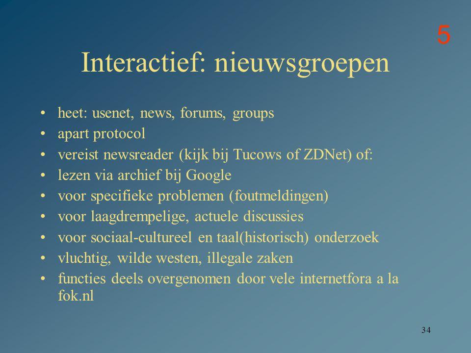 Interactief: nieuwsgroepen