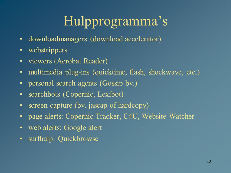 Hulpprogramma's downloadmanagers (download accelerator) webstrippers